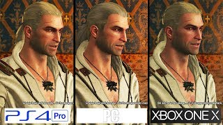 The Witcher III | ONE X vs PC vs PS4 Pro | 4K GRAPHICS Comparison