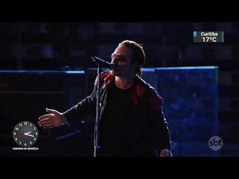 Fãs lotam estádio para primeiro show da turnê do U2 em São Paulo | SBT Notícias (20/10/17)