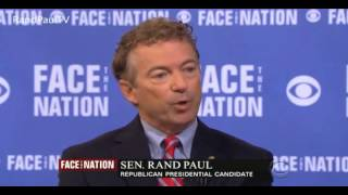 "Rand Paul on CBS ""Face The Nation"" 9/20/15"