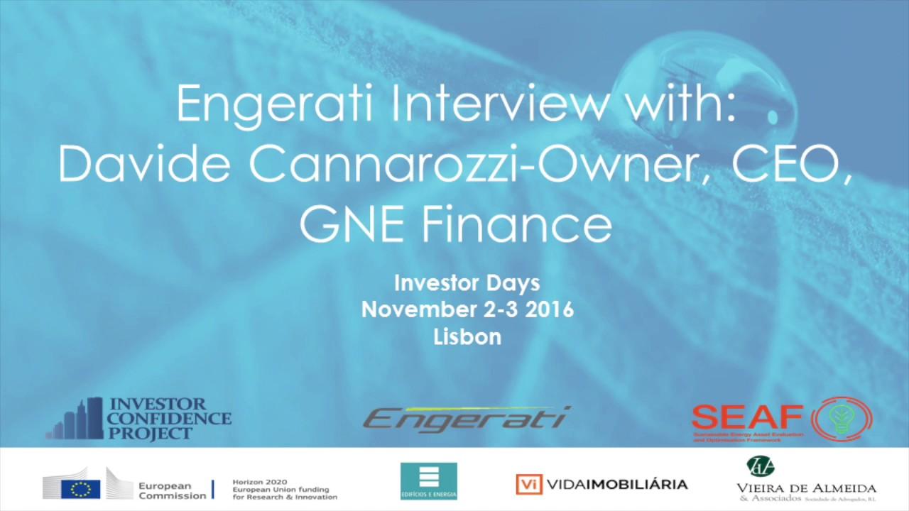 David Cannarozzi, CEO, GNE Finance