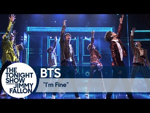 BTS Performs Im Fine on The Tonight Show