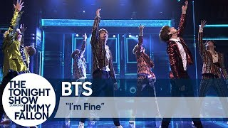 BTS Performs I M Fine On The Tonight Show