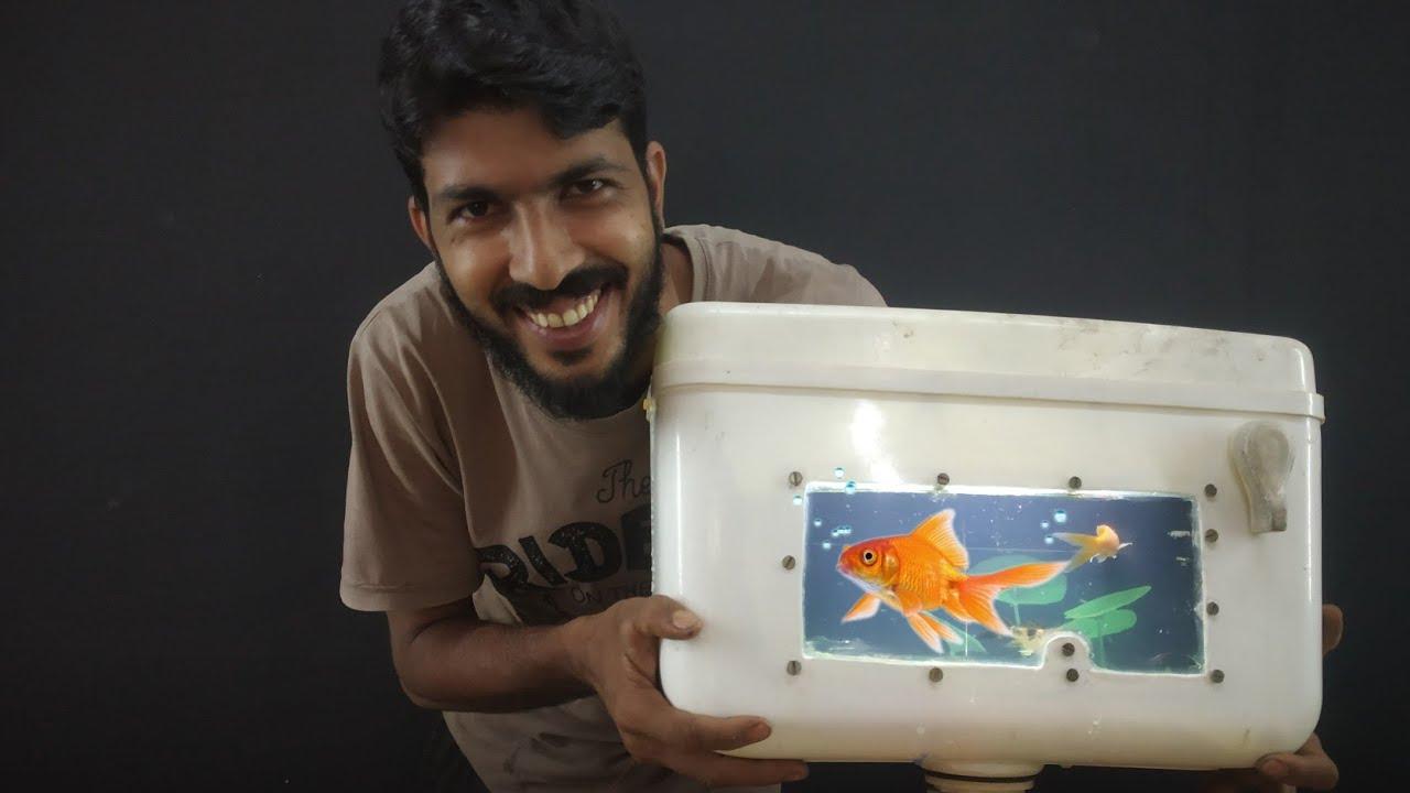 Flush tank aquarium making