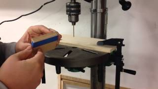 Woodworking Quick Tips - Tape Over Holes To Protect Your Projects During Drilling