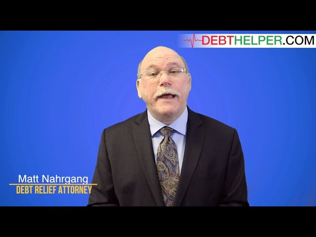 Attorney Matt Nahrgang speaks on the benefits of working with Debthelper.com