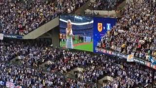 sky bet championship sheffield wednesday fans song the queen at wembley on 28 may 2016