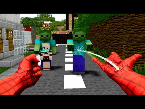 REALISTIC MINECRAFT ~ STEVE BECOMES SPIDERMAN
