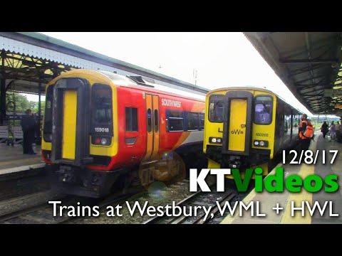 Trains at Westbury, WML + HWL - 12/8/17