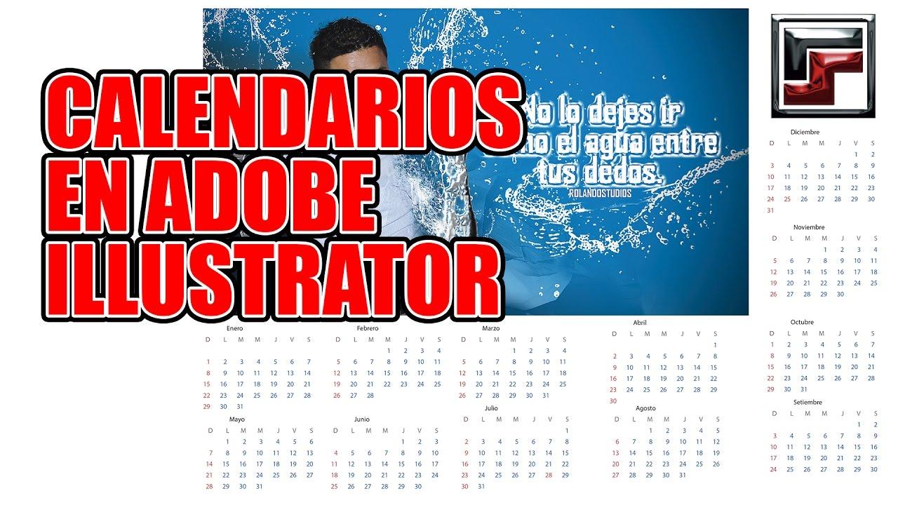 Calendario 2019 Illustrator.Calendarios En Adobe Illustrator