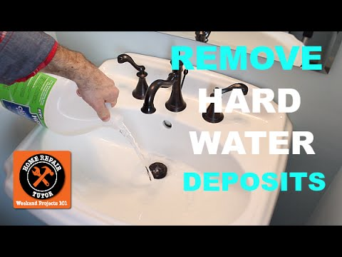 How To Remove Hard Water Deposits Home Repair Tutor