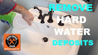 How to Remove Hard Water Deposits (Almost Too Easy!!) -- by Home Repair Tutor