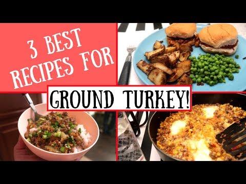 GROUND TURKEY RECIPES! THE BEST WAYS TO MAKE GROUND TURKEY / CHEAP DELICIOUS MEALS!
