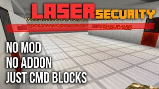 LASER SECURITY with command blocks in Minecraft PE