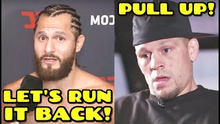 Nate Diaz and Jorge Masvidal GO OFF on each other & AGREE to rematch for BMF belt, DC on Jon Jones