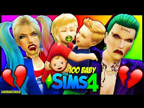 HARLEY QUINN AND JOKER BABY TROUBLES 💔 The Sims 4: 100 Baby Challenge HARLEY QUINN AND JOKER Ep. 6