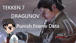 [Punish Frame Data] TEKKEN 7 Dragunov / ドラグノフ 確定反擊Frame速記