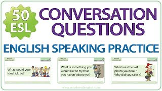 Esl conversation starters – english speaking practice about personal information this video contains 50 questions information, li...