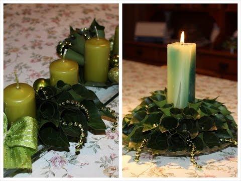 DIY Karácsonyi Asztaldíszek