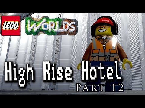 High Rise Hotel Part 12: Detailing the Parking Garage! Designing and Building in LEGO Worlds