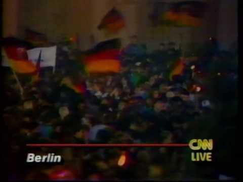 GERMAN REUNIFICATION *LIVE*  CNN,CBS 1990