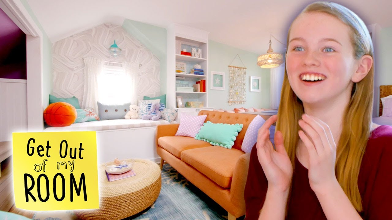 Download Girl Gets AMAZING Beach-Themed Bedroom AND Personal Living Room!   Get Out Of My Room