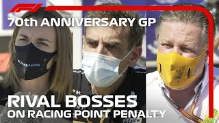 Rival Bosses On Racing Point Penalty: 70th Anniversary Grand Prix