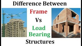 Difference between frame and load bearing structures