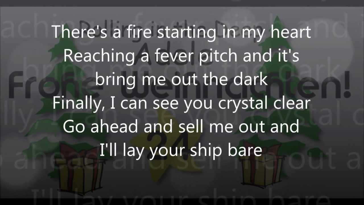 rolling in the deep adele pianoversion lyrics hd. Black Bedroom Furniture Sets. Home Design Ideas