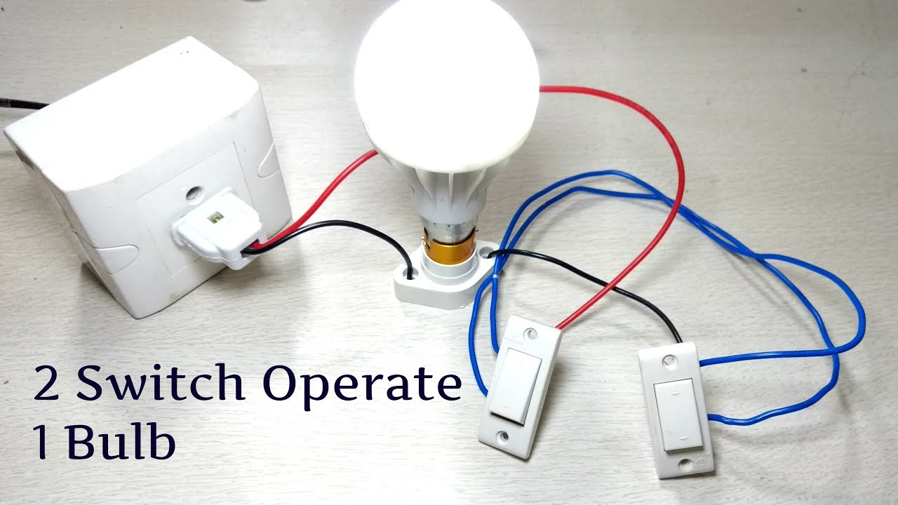 How to install a two way light switch - YouTube