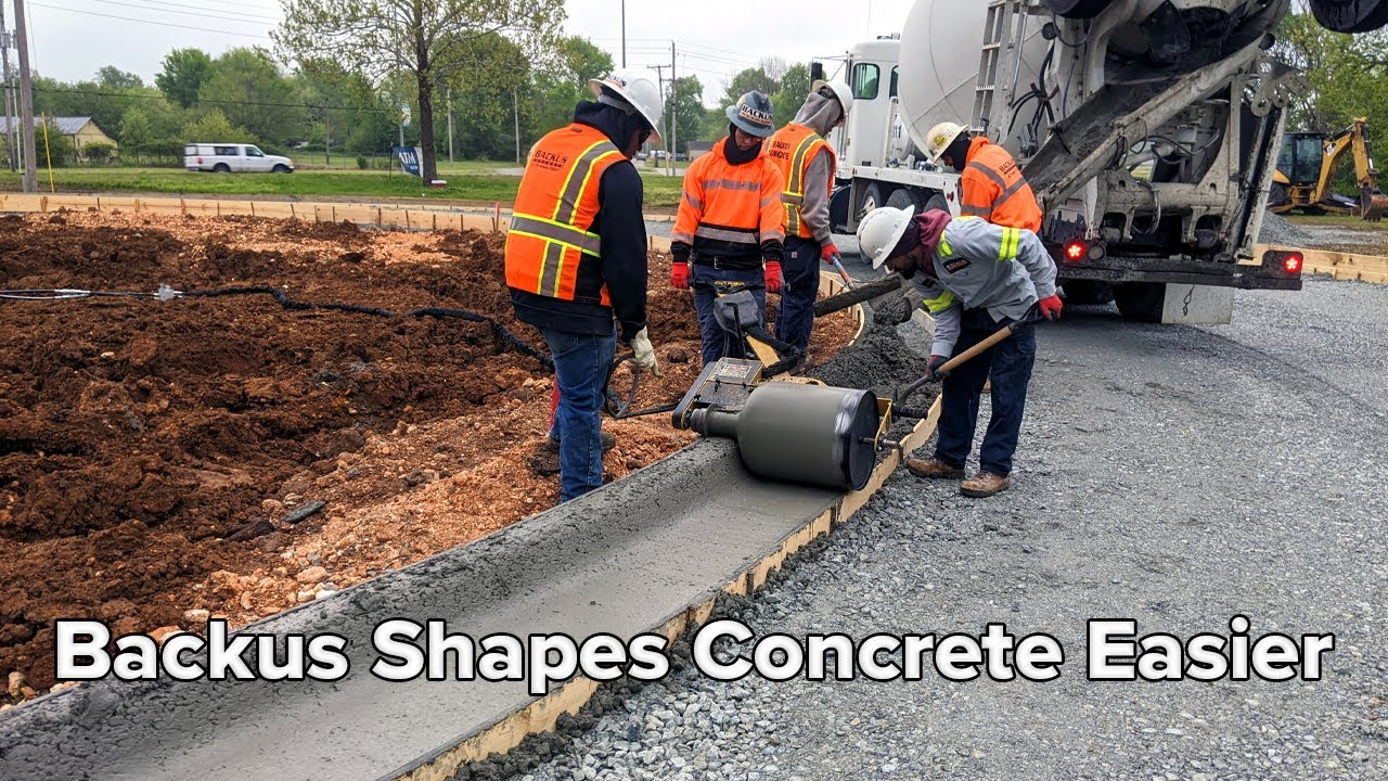 Backus Concrete Gets Curb and Gutter Shaped Easier