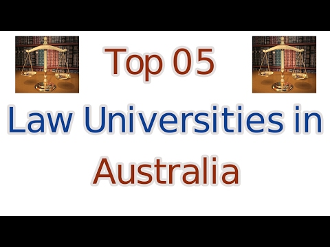 Top 5 Law Universities in Australia