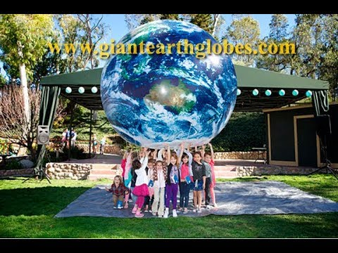 """Giant Inflatable Earth Globes - World Balloons for Parades, Events, Displays : 16"""" to 10 ft"""