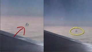 Đi máy bay ông vô tình chụp được bức hình lạ, zoom kĩ mới sợ đứng hình hét lên:Ai đó đang ở trên mây