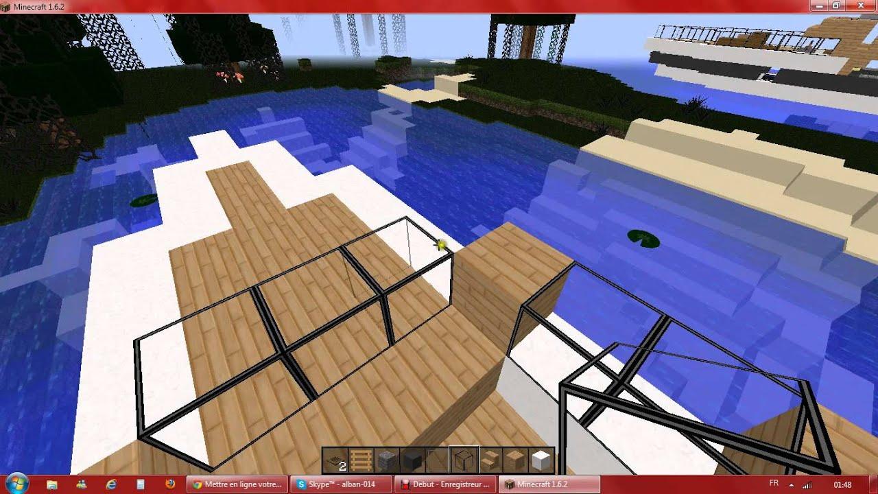 Tuto construction d un yatch de luxe MINECRAFT
