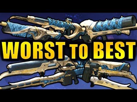 Destiny 2: WORST to BEST Dreaming City Weapons!   Forsaken