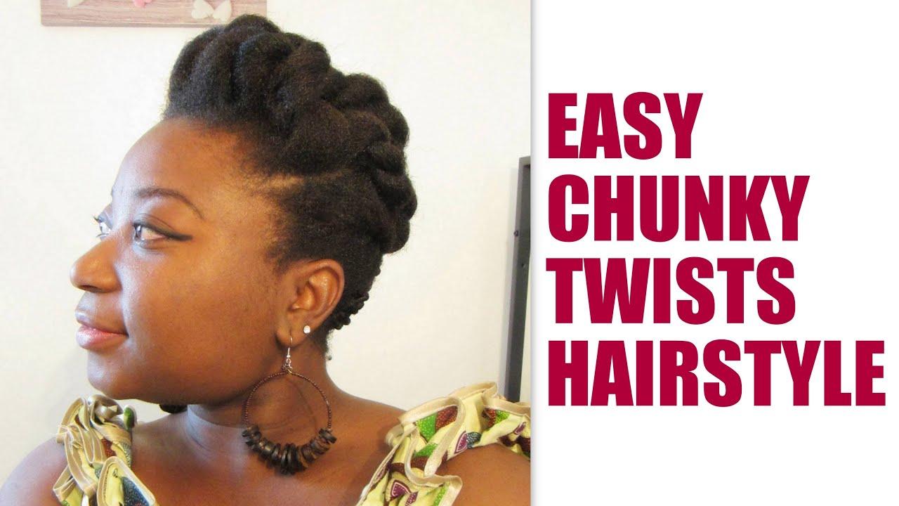cheveux crepus 4c tuto coiffure   easy chunky twists