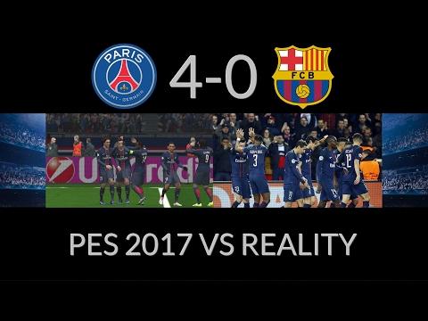 PSG 4-0 FC Barcelona - PES 2017 remake goals