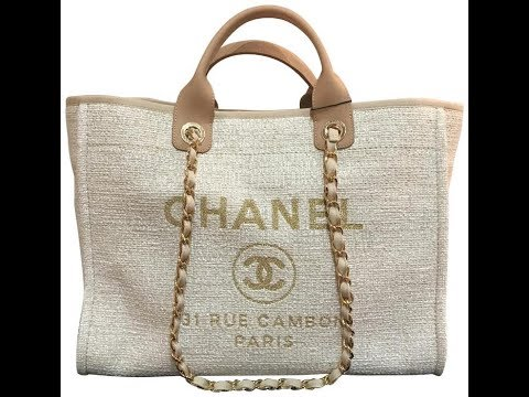 4806d8fe3b69 #Chanelbags 2018 Chanel 30 cm beige large deauville shopping tote bag review
