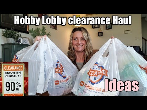 Hobby Lobby 90% Clearance Haul/Think Outside the Box😉