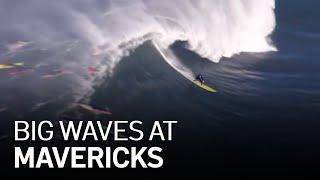 Surfers Ride Big Waves At Mavericks