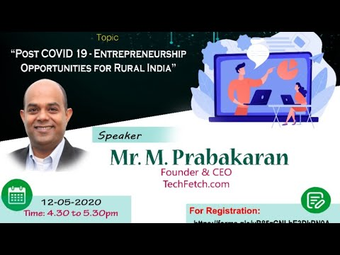 POST COVID 19- ENTREPRENEURSHIP OPPORTUNITIES FOR RURAL INDIA