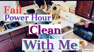 Epic Fail clean with me| Power hour| lady problems
