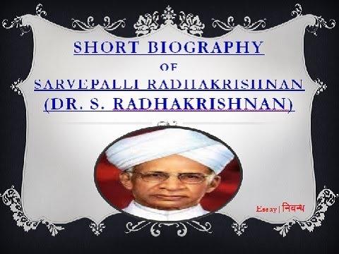 'Dr. S. Radhakrishnan'- Short Biography