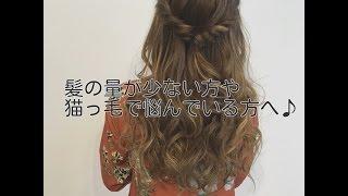 髪の量が少ない方や猫っ毛の方へ♪動画&解説 ペタンココユビピンノ 検索動画 5