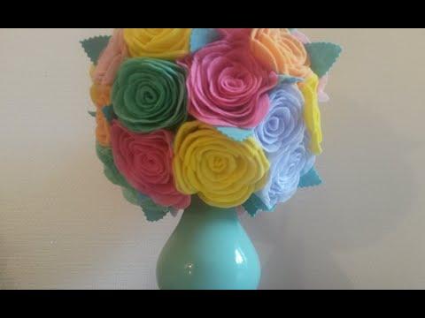 DIY Яркий весенний Букет с розами из кухонных салфеток фрекен бок / Vase with roses of kitchen wipes