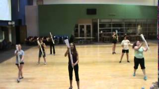 Color Guard rifle routine
