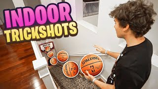 *CRAZY* INDOOR 2HYPE MINI HOOP BASKETBALL TRICKSHOTS!!