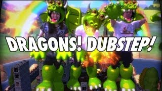Kinect Party Gameplay - Dubstep, Dragons - Happy Action Theater Returns