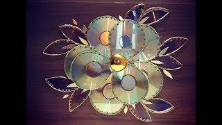 Decoração com CDs e DVDs,!(#02)Flor.