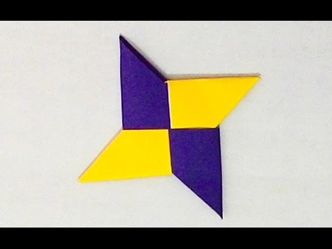 how to make a ninja star out of a cd